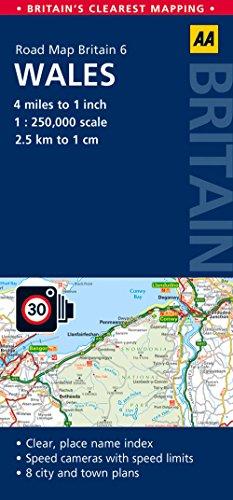 Road Map Britain 06 Wales 1 : 250 000 (AA Road Map Britain)