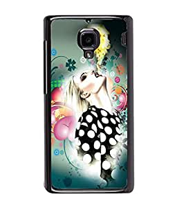 Fuson Girl With Fire Back Case Cover for XIAOMI REDMI 1S - D4069