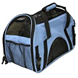 "Oxgord Pet Carrier Soft Sided Cat / Dog Comfort ""FAA Airline Approved"" Travel Tote Bag - 2014 Newly Designed, Large, Mineral Blue"