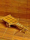 The India Craft House Rajasthani art curio -wooden pull cart RACW417PC (H-4