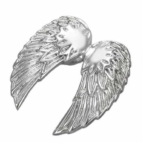 Urban Male Stainless Steel Angel Wings Pendant For Men