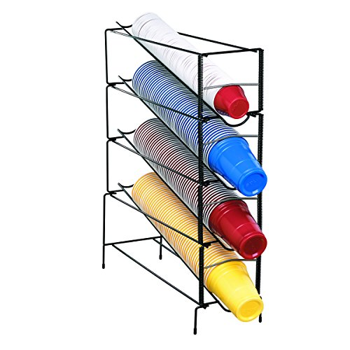 Dispense-Rite WR-CT-4 Four Section Vertical Wire Rack Cup Dispenser