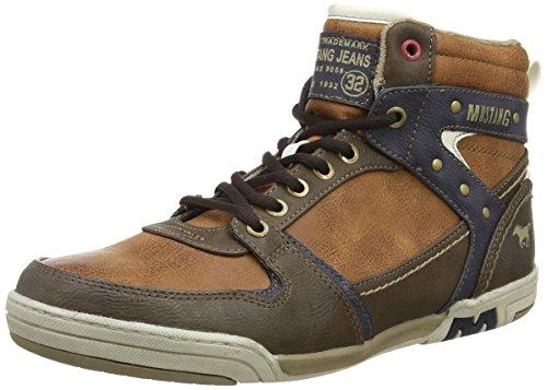 Mustang - High Top Sneaker, Alte Scarpe Da Ginnastica da uomo, marrone (300 nussbraun), 41