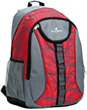 17.8 Inch Red Multi Purpose Student School Bookbag Children Outdoor Sports Backpack Travel Carryon