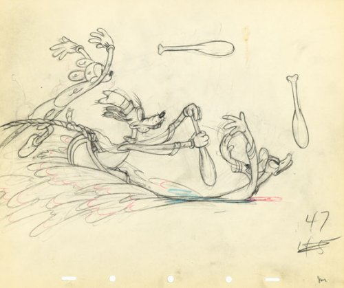 Mickey Mouse, Goofy and Donald Duck - Disney Original Production Drawing