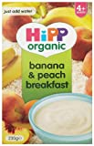 HiPP Organic Stage 1 From 4 Months Banana and Peach Breakfast 230 g (Pack of 4)