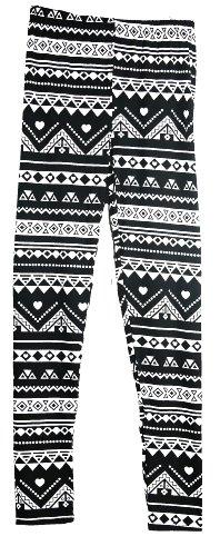 Marc Gold Black & White Geometric Print Leggings