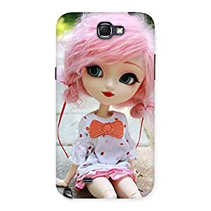 Gorgeous Pink Doll Back Case Cover for Galaxy Note 2