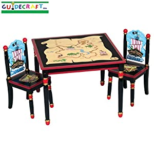 childrens wooden pirate table chair set. Black Bedroom Furniture Sets. Home Design Ideas