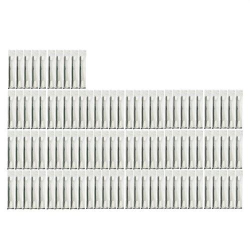 歯ブラシセット チューブ歯磨き粉 付き 個包装タイプ ブラック 100本
