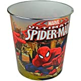 MARVEL SPIDERMAN BIN TRASH KIDS BOYS WASTE RUBBISH BEDROOM HOME KIDS CAN NEW