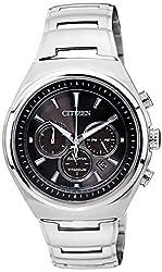 Citizen Eco-Drive Analog Black Dial Mens Watch - CA4021-51E