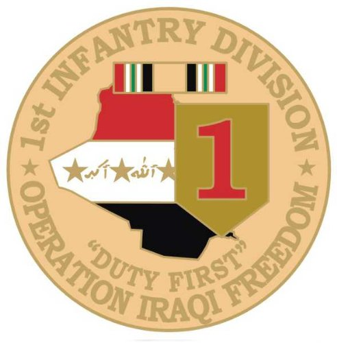 NEW U.S. Army 1st Infantry Division O.I.F. Pin