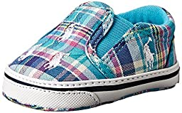 Ralph Lauren Layette Bal Harbour Repeat Slip On (Infant/Toddler), Turquoise/Multi Plaid, 1 M US Infant
