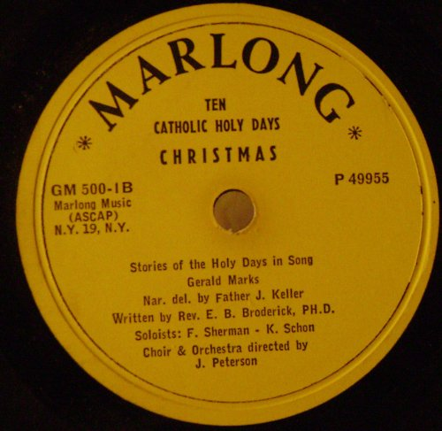 Stories Of Catholic Holy Days In Song- Advent