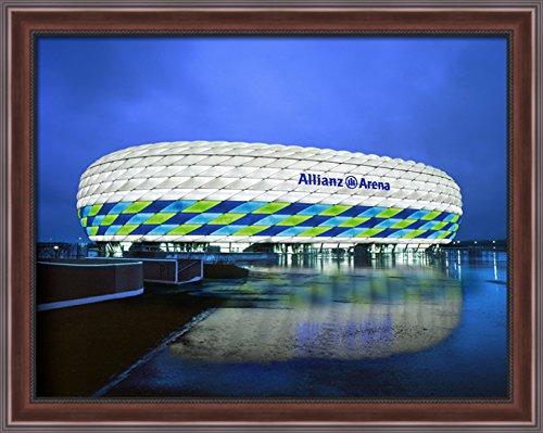the-allianz-arena-36x28-large-walnut-ornate-wood-framed-canvas-art
