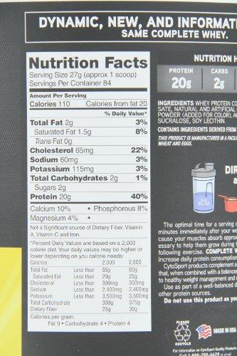 CytoSport Complete Whey Protein, Strawberry Banana, 5 Pound
