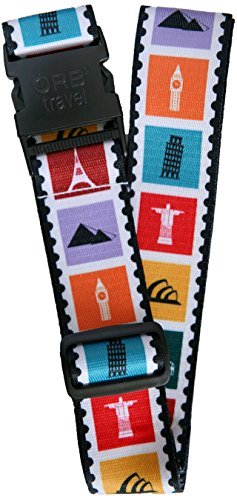 "ORB Travel Premium Designer Luggage Strap 2""x72""-LS315-Landmarks-Multi-Colour"