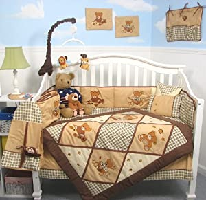 Amazon Com Soho Classic American Teddy Bear Baby Crib