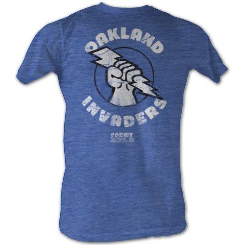 Usfl Oakland Invaders Blue Adult T-Shirt Tee