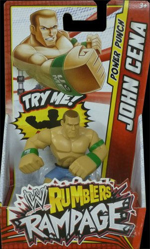 WWE Rumblers Rampage John Cena Punch Action Figure