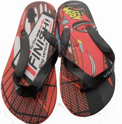 Disney Cars Kids Red Flip Flops Sandals Size 10 Infant