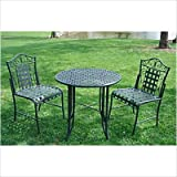 Mandalay Wrought Iron Patio Bistro Set