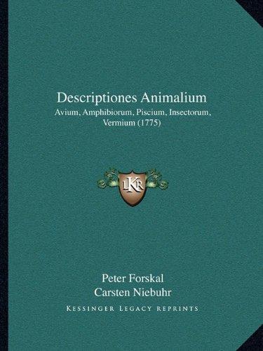 Descriptiones Animalium: Avium, Amphibiorum, Piscium, Insectorum, Vermium (1775)
