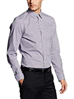 Seidensticker Camisa Vestir (Azul / Rojo)