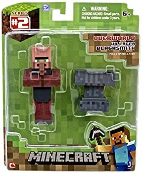 "Minecraft 3"" Blacksmith Villager with Accessory from Jazwares"