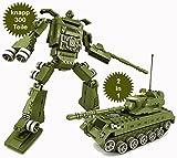 Brigamo 464 - Transform Warrior Attack Bausteine Panzer + Roboter 2in1 - knapp 300 Teile, kompatibel mit den anderen bekannten Steckbausteinen thumbnail