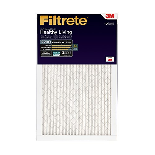 Filtrete Healthy Living Elite Allergen Reduction Filter, MPR 2200, 20 x 30 x 1-Inches, 2-Pack (Filtrete 30x20x1 Air Filter compare prices)