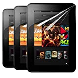 Skque 3 Packs Clear Screen Protector Film Guards for Amazon Kindle Fire HD 7-Inch Touch Screen Tablet