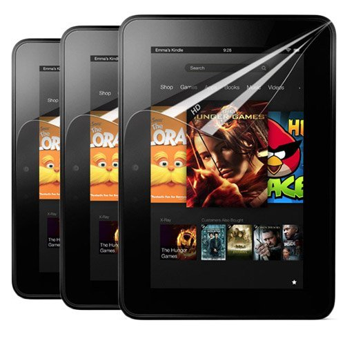 Why Should You Buy Skque 3 Packs Clear Screen Protector Film Guards for Amazon Kindle Fire HD 7-Inch...