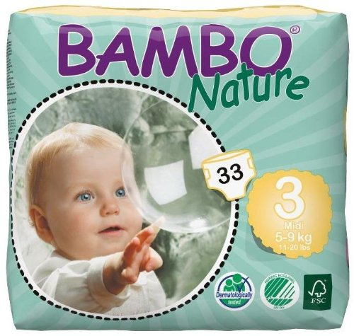 Bambo Nature Diapers-Size 3-132 Count