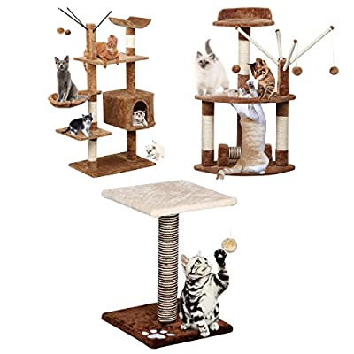 Popamazing Cat Tree Scratching Post Activity Centre Different Styles