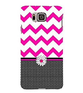 Blaky Dots Chevron 3D Hard Polycarbonate Designer Back Case Cover for Samsung Galaxy Alpha G850