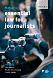 McNae's Essential Law for Journalists (019921154X) by Welsh, Tom