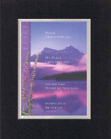 Peace I Leave With You . . . 8 X 10 Inches Biblical/Religious Verses Set In Double Beveled Matting (Black On White) - A Timeless And Priceless Poetry Keepsake Collection