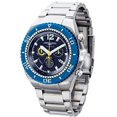 Jorg Gray 9700 Silver/Blue Chronograph Mens Watch