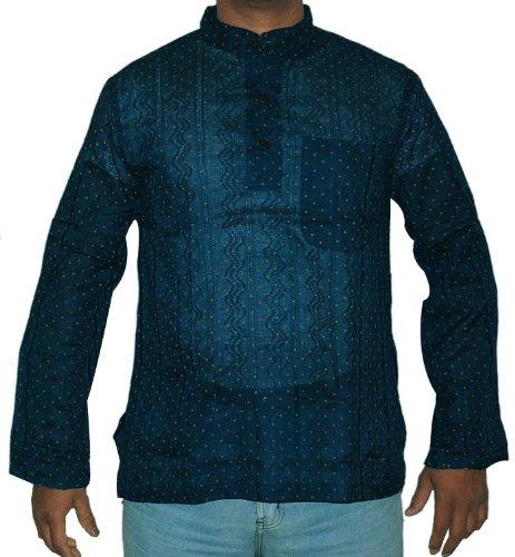 Designer Mens Casual Cotton Short Indian Kurta Size S