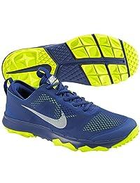 Nike Mens FI Bermuda Golf Shoes 8 1/2 US Medium Deep Royal/Volt/White