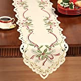 Christmas Holiday Holly Berry Table Linens, Runner