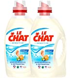 Le Chat Sensitive Lessive Liquide 1,875 L / 25 Lavages - Lot de 2