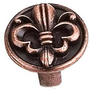 Laurey 13377 1 1/4-Inch Fleur De Lis Knob, Venetian Bronze