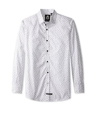 English Laundry Men's Micro Paisley Long Sleeve Shirt