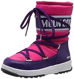 Moon Boot We Sport JR Winter Fashion Boots, Bougainville/Violet, 30 EU (12.5-13 M US Little Kid)