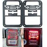 XYZCTEM 2 X Tail Lamp Tail Light Cover Trim Guards Protector for Jeep Wrangler