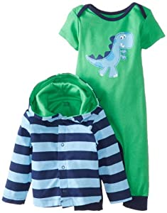 Gerber Baby-Boys born 2 Piece Boys Hooded Cardigan and Coverall from Gerber