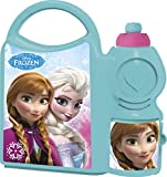 Disney Frozen School Canteen Set, Lunch Box with Sipper Bottle, 500 ml, Set of 2, Blue